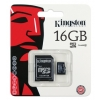 Kingston 16GB (class 4) microSDHC memóriakártya SD adapterrel*