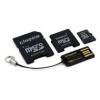 Kingston 16GB microSDHC Card + Adapter + USB Reader Class 4
