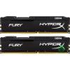 Kingston 32GB/2666MHz DDR-4 HyperX FURY fekete (Kit 2db 16GB) (HX426C16FBK2/32) memória (HX426C16FBK2/32)