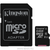 Kingston Canvas Selet 64GB microSDXC kártya + adapter