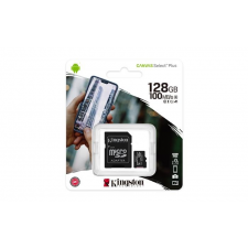 Kingston Memóriakártya, microSDXC, 128GB, CL10/U1/A1, adapter, KINGSTON  Canvas Select Plus memóriakártya