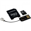 Kingston Micro SDXC 64 gigabyte Class 10 UHS-I + SD adapter és USB olvasó
