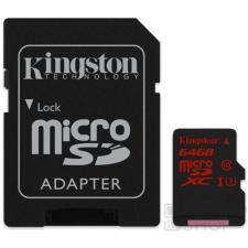 Kingston microSDXC 64GB (Class 10), U3 UHS-I memóriakártya adapterrel (SDCA3/64GB) memóriakártya