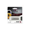 """Kingston Pendrive, 32GB, USB 3.0, 135/40 MB/s, jelszavas védelemmel,  """"DTLPG3"""", ezüst"""