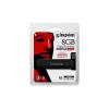 """Kingston Pendrive, 8GB, USB 3.0, víz- és ütésálló, adatvédelem, KINGSTONE """"DT4000G2DM"""", fekete"""