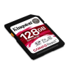 Kingston SDXC 128GB CL10 UHS-I U3 V30 A1 Canvas React (100/80) memóriakártya