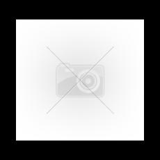 Kivágott, cipzáros lakk fűző (fekete) (XL)