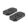 KLARFIT 2 x 7 kg, tárcsasúly, ütésálló műanyag, fekete