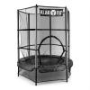 KLARFIT Klarfit Rocketkid, fekete, 140 cm, trambulin, belső védőháló, bungee rugók