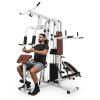 KLARFIT Ultimate Gym 9000, fitnesz állomás, 7 állomás, max. 150 kg, QR acél, fehér