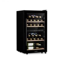 Klarstein Barossa 34 Duo, borhűtő, 2 zóna, 34 palack, üvegajtó, érintésvezérlés, fekete borhűtőgép
