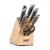 Klarstein Klarstein Katana 8, kés készlet, 8 darabos, olló, acél, kés blokk