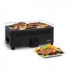 Klarstein Micro-Q 3131, faszenes grill, négyszögletes, 42 x 23 cm grillrács, fekete