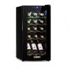 Klarstein Shiraz 15 Slim Uno, borhűtő, 44 l, érintőképernyő, 135 W, 5-18 ° C, fekete