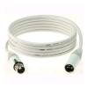 Klotz IceRock mikrofonkábel, 5 m fehér színű Neutrik XLR3M - XLR3F csatlakozók, + fehér MY206 kábel