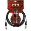Klotz mikrofonkábel 5 m Klotz XLR3M-XLR3F csatlakozók+MY206 fekete kábel