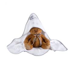 Klups kapucnis Kifogó #macik csillaggal #szürke-fehér