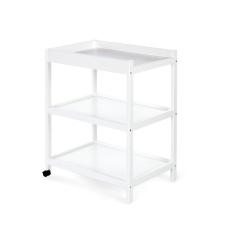 Klups pelenkázó asztal - fehér/bialy világítás