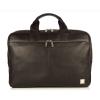 Knomo NEWBURY Full Leather Single Zip Brief 15inch - Black