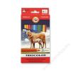 KOH-I-NOOR Triocolor Lovas 3144/24 színes ceruza készlet, háromszögletű, 24 különböző szín