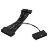 Kolink ATX 24 pin Tápkábel Fekete 15cm ZUAD-767