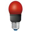 Kompakt fénycső 5W E27 GLS piros Müller Licht