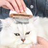Kompakt két fejes macska fésű, hosszú- és rövid szőrhöz