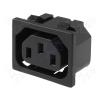 Kőnig-HQ Táp szerelhető 220 V-os hálózati aljzat, beépíthető anya CS-021