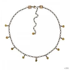 Konplott Lánc Collier Tutui Collection fényes sárga topaz ezüst nyaklánc