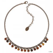 Konplott nyaklánc ékszer Collier Earth, Wind & Glamour barna antique cooper / ezüst nyaklánc
