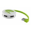 Kör alakú USB-elosztó, zöld