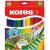 KORES Akvarell ceruza készlet, hegyezővel, ecsettel, KORES, 24 különböző szín [24 db]