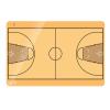 Kosárlabda taktikai tábla, 60x90 cm