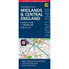Közép-Anglia +Midlands térkép - AA