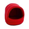 Krakvet Ovális kutyaház fekhely piros 56x50x47cm