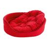 Krakvet /ZooFast fekhely párnával piros 82x68x22cm