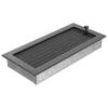 Kratki Fekete Ezüst Szellőzőrács Standard 17x37 Redőnnyel