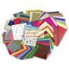 Kreatív hobby készlet gyerekeknek - 50 kreatív papír ötlet - 107 db-os készlet táskában