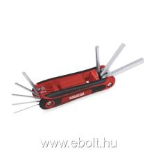 Kreator imbuszkulcs készlet összecsukható, műanyag tartó, 8db-os 1, 5-8mm imbuszkulcs