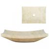 Krémszínű márvány mosdókagyló 50 x 35 x 12 cm