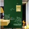 Krétával írható zöld falmatrica