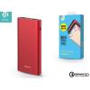 Külső akkumulátor, 10000 mAh, Okostelefonhoz és TabletPC-hez, Devia King Kong, piros