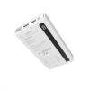 Külső akkumulátor, 20000 mAh, Okostelefonhoz és TabletPC-hez, 2 x USB aljzat, Remax Linon Pro, RPP-73, fehér