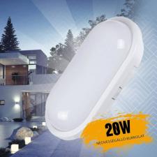 Kültéri 20W led lámpa nedvességálló burkolattal - ovális világítás