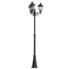 Kültéri állólámpa E27 3X60W alumíniumöntvény-fekete, ezüst-patina/áttetsző-üveg IP44 Navedo EGLO kültéri világítás