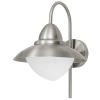 Kültéri fali lámpa E27 1X60W nemesacél/fehér-szatinált üveg IP44 Sidney EGLO