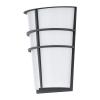 Kültéri LED fali lámpa integrált-LED 2X2,5W horganyzott acél-antracit/fehér-műanyag IP44 Breganzo EGLO