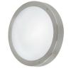 Kültéri LED fali/mennyezeti lámpa integrált-LED 3X2,5W nemesacél/lakkozott fehér-üveg IP44 Vento1 EGLO