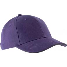 KUP Orlando baseballsapka, 6 paneles,U, Purple/Dark Grey