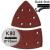 KWB Tépőzáras csiszolópapír P60  + P120 + P180/ 100x62 mm  (12 db)